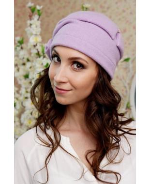Женская шапочка с драпированной тульей