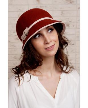 Женская шляпка из фетра с кантом