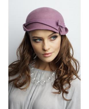 Женская шляпка из фетра декоративная