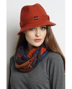Шляпа-федора из фетра с плетеным пояском