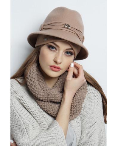 Шляпа-федора из фетра с трикотажем