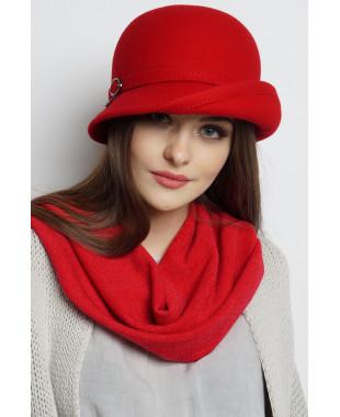 Шляпа из фетра с асимметричным полем вверх