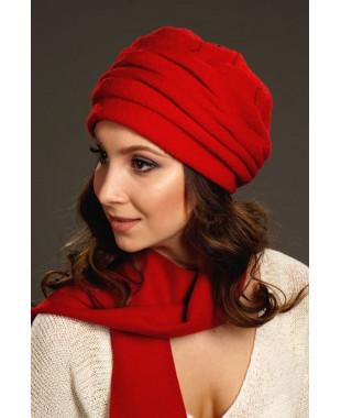 Женская шапочка из 100% шерсти на подкладе