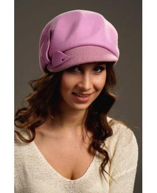 Женская фетровая кепка с трикотажной отделкой и регулировкой размера