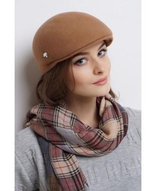Женская кепка из фетра унисекс с лейблом