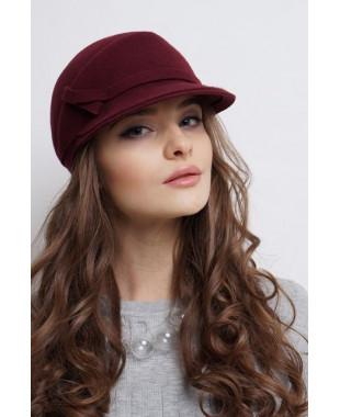 Женская кепка из фетра бейсболка