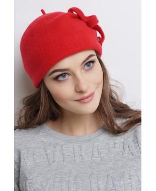 Женская шапочка- берет из войлока со змейкой