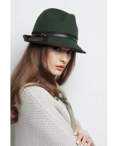 Шляпа-федора из фетра с окантованным полем