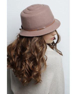Шляпа из фетра с рельефным донышком