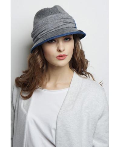 Шляпа из фетра 2в1 со съемной трикотажной повязкой