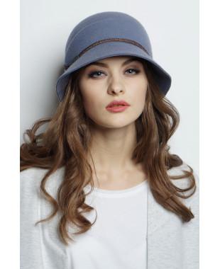 Шляпа из фетра с боковой складкой