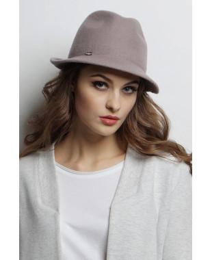 Шляпа-федора из фетра с декором сзади