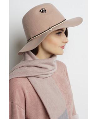 Шляпа-федора из фетра с мягким полем и кожаным шнуром
